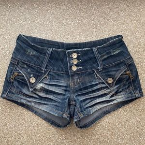 Almost Famous Denim Button Fly Shorts  |  Size 1